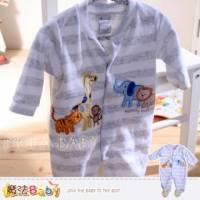魔法Baby~法國設計動物派對細絲絨包腳連身衣 包屁衣~男童裝~k32451