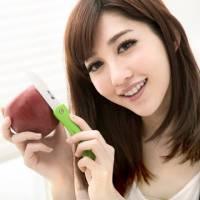 JoyLife 絢彩輕巧陶瓷摺疊刀水果刀-馬卡龍綠