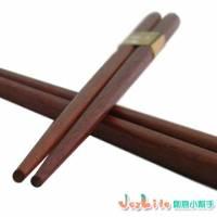 【JoyLife】超值10雙自然風紫檀木箸
