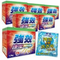 康潔 強效洗衣粉1200gx6送強效洗衣粉補充包500g