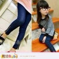 【魔法Baby】內裡加厚窄管牛仔褲 褲子~女童裝~k33007