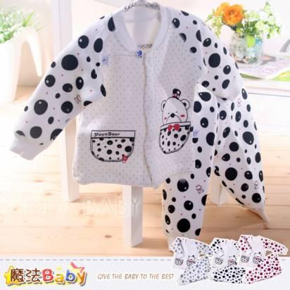 居家套裝~三層夾棉保暖居家套裝~童裝~魔法Baby~k33113