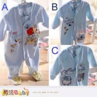 寶寶連身衣~法國設計細絲絨包腳連身衣~嬰兒服~魔法Baby~k33175