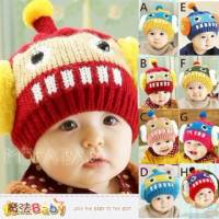 嬰幼兒毛線帽~機器人立體耳罩保暖毛線帽~嬰兒服飾配件~魔法Baby~k33212