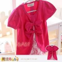 女童裝~公主袖假兩件上衣~魔法Baby~k33533