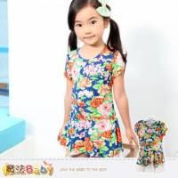 女童洋裝~韓版時尚洋裝~女童裝~魔法Baby~k34257