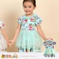 女童洋裝~韓版氣質系洋裝~女童裝~魔法Baby~k34264