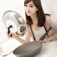 【母親節特惠】清水 星鑽奈米陶瓷不沾平炒鍋組合蓋33CM