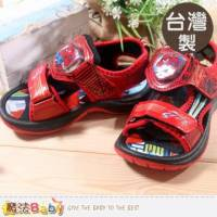 男童涼鞋~台灣製蜘蛛人電燈鞋~魔法Baby~sa49102