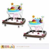 嬰幼兒用品~360度旋轉靜音嬰幼兒學步車 卡其 藍 ~魔法Baby~tb887