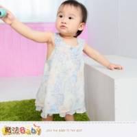 洋裝~百貨專櫃女寶寶無袖連身裙 小褲兩件組~嬰幼兒服飾~魔法Baby~k35070