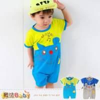 連身衣~嬰幼兒短袖包屁衣~嬰兒服~魔法Baby~k35124