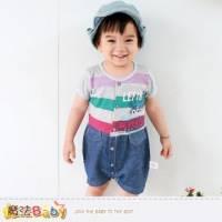 連身衣~百貨專櫃正品純棉包屁衣~嬰兒服~魔法Baby~k35162