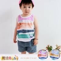 嬰幼兒套裝~百貨專櫃正品純棉背心 短褲 藍.紅 ~男童裝~魔法Baby~k35339
