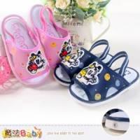 嬰幼兒涼鞋 踩了嗶嗶叫涼拖鞋 寶寶鞋 藍.粉 魔法Baby~sh4278