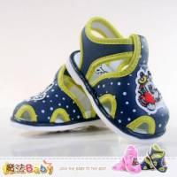 嬰幼兒涼鞋 踩下會嗶嗶叫涼鞋 寶寶鞋 藍.粉 魔法Baby~sh4285