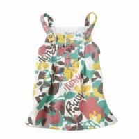綠碎花 -夏威夷風情碎花吊帶裙