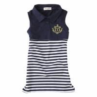 海軍藍-夏日海軍風無袖連身洋裝