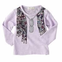 粉嫩紫-嘻哈塗鴉項鍊圍巾舒棉T