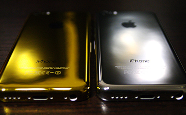 iPhone 5c也有金銀色, 比iPhone 5s更閃亮 [圖庫]