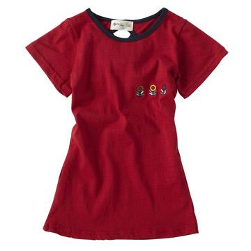 優雅紅-氣質蝴蝶結連身洋裝