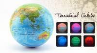 發光自轉地球儀 6色漸變 地球藍