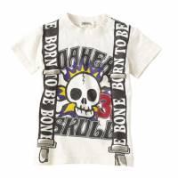米白色-吊帶骷簍造型T-Shirt