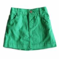 糖果彩色A字短裙 綠