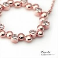 大東山珠寶 炙熱玫瑰 玫瑰金純銀鑲鑽項鍊