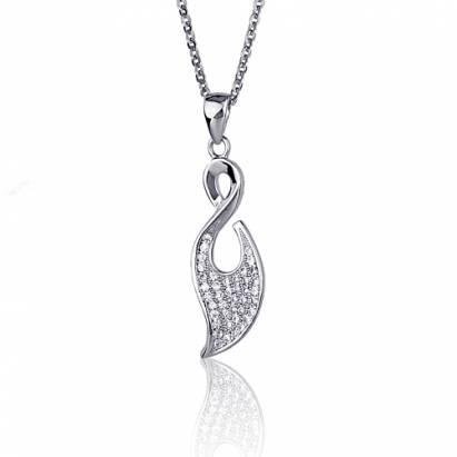 【七夕情人節特惠】 愛你999專案Luperla 漂泊/星葉純銀晶鑽項鍊