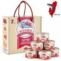 【中秋節特惠商品】 【府城館SabaFish】鮮活魚罐頭 6罐 組 禮盒裝x6組-團購價