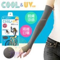 【美人欲望】日本製Cool涼感 豔陽對策手臂袖套 灰色
