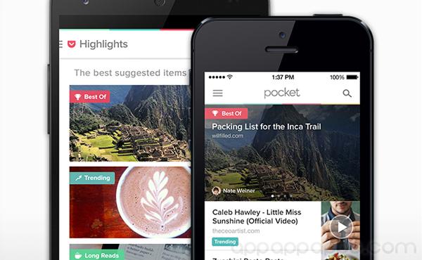 """Pocket"" App儲存內容看不完? 新版本智能找出你最有興趣的東西"