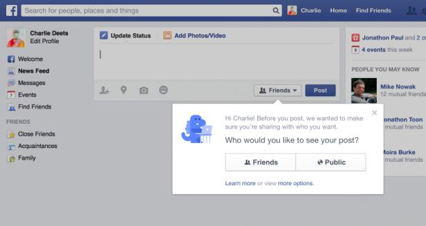 Facebook 修改狀態更新功能, 終於注重我們的私隱?