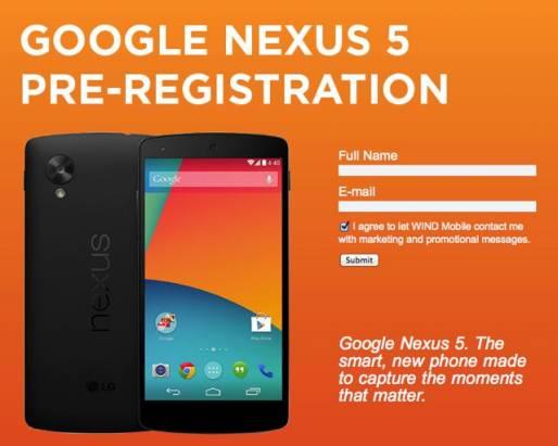 Nexus 5 在上市前由加拿大電信商搶先揭露規格