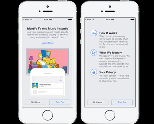 Facebook 將推出歌曲、電視節目辨識功能