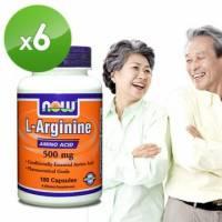 NOW健而婷-一氧化氮-精胺酸膠囊食品 100顆 瓶 六瓶組