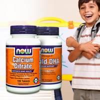 《NOW健而婷》雙效鈣犀利套組 美挺鈣 兒童魚油DHA