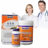 《NOW健而婷》健康之鑰-補養能量套組 左旋麩醯胺酸 專利米蕈多醣體