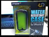 防潑水的機踏車用 iphone 5 保護殼 peripower Water Resistant