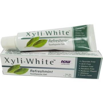 《NOW健而婷》木糖醇潔白素食牙膏 (28公克/條)