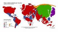 [科技新報]從全球地圖看世界各國最受歡迎的網站