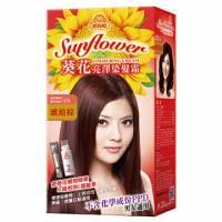 美吾髮 葵花亮澤染髮霜-5N號 琥珀棕