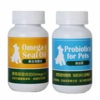 【保健優惠】強化免疫!改善過敏搔癢 拉肚子 百益康《善益菌+黃金海寶油》 大