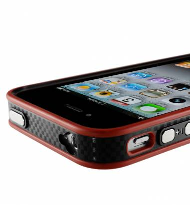 iPhone4/4S-情人節成對保護框-甜心粉+熱火紅