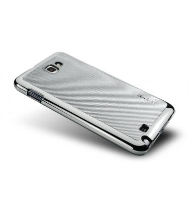 Note I-Corium Series-玻纖保護背蓋-亮銀