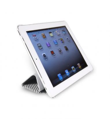 new iPad-玻纖對開保護套-亮銀色