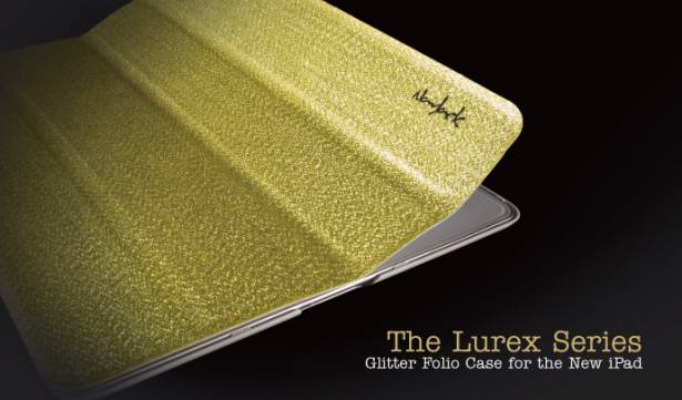 new iPad-璀璨金蔥對開保護套-閃耀銀
