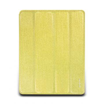 new iPad-璀璨金蔥對開保護套-閃耀金