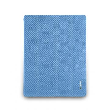 new iPad-特別版-玻纖對開保護套-天藍色